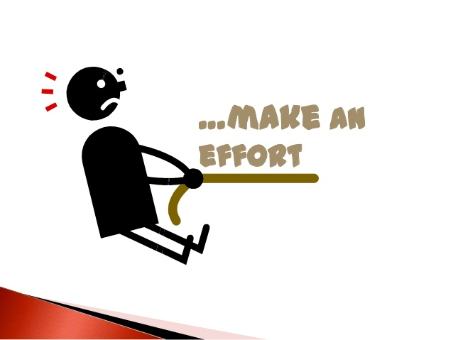 make effort
