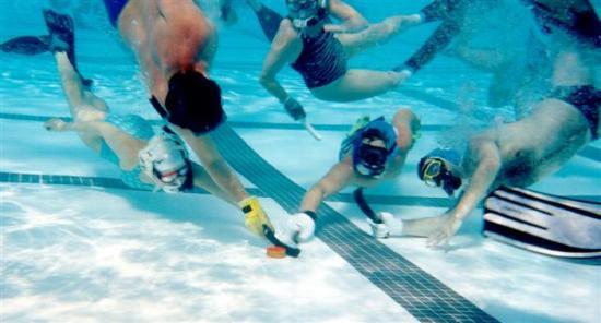 Хоккей под водой